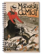 Vintage Poster - Motocycles Comiot Spiral Notebook