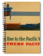 Vintage Poster - Southern Pacific Spiral Notebook
