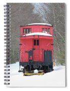 Vintage Red Caboose In Winter Spiral Notebook