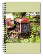 Vintage Rusted Tractor Spiral Notebook