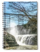 Vintage Train Trestle With Waterfalls Spiral Notebook