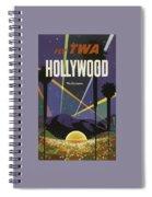 Vintage Travel Poster - Hollywood Spiral Notebook