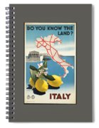 Vintage Travel Poster - Italy Spiral Notebook