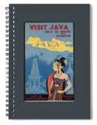 Vintage Travel Poster - Java Spiral Notebook