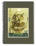 Vintage Travel Poster - Luxor, Egypt Spiral Notebook