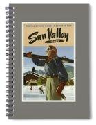Vintage Travel Poster - Sun Valley, Idaho Spiral Notebook