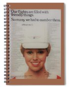 Vintage United Airlines Ad Spiral Notebook