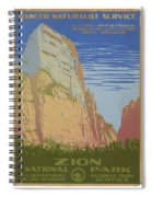Vintage Zion Travel Poster Spiral Notebook