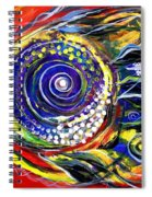 Violet Fish On Red And Yellow Spiral Notebook