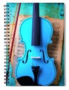 Violin Blues Spiral Notebook