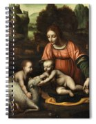 Virgin And Child Spiral Notebook