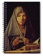 Virgin Annunciate By Messina Spiral Notebook