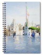 Vittorio Emanuele In Rain Spiral Notebook