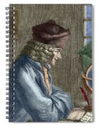 Voltaire In His Office In Vernay Spiral Notebook