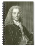 Voltaire Portrait, Engraving Spiral Notebook