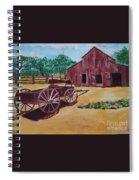 Wagons And Barns Spiral Notebook