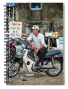 Waiting At The Fish Market, Hoi An, Vietnam Spiral Notebook