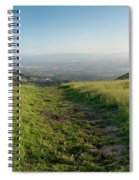 Walking Downhill Large Trail With Silicon Valley At The End Spiral Notebook