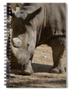Walking Rhino With One Large Horn And One Small Horn Spiral Notebook