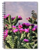 Walking Stick Cactus And Wren Spiral Notebook