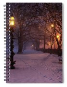Walking The Path On Salem Ma Common Spiral Notebook