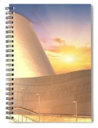 Wall Disney Concert Hall At Sunset Spiral Notebook