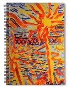 Warmly Lit Flowers Spiral Notebook