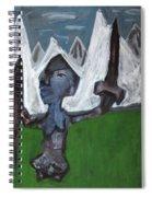 Warrior In A Field Spiral Notebook