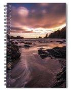 Washington Coast Dusk Tide Motion Spiral Notebook