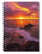 Washington Coast Sunset Serene Evening Spiral Notebook