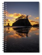 Washington Coast Weeping Lady Sunset Cloudscape Spiral Notebook