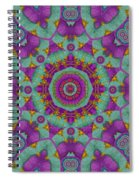 Water Garden Lotus Blossoms In Sacred Style Spiral Notebook