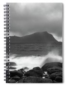 Water Hits The Coastline During Storm Spiral Notebook