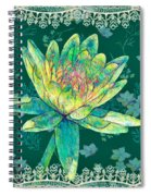 Water Lily And Lace Spiral Notebook