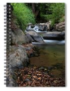 Water Stream On The River With Small Waterfalls Spiral Notebook