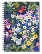 Watercolor - Alpine Wildflower Design Spiral Notebook