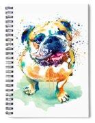 Watercolor Bulldog Spiral Notebook