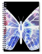 Watercolor Butterfly On Black V Spiral Notebook