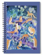 Watercolor - Fox And Firefly Design Spiral Notebook