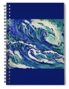 Watercolor - Ocean Wave Design Spiral Notebook