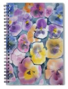 Watercolor - Pansy Design Spiral Notebook