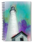 Watercolor Sky Lighthouse Spiral Notebook