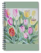 Watercolor - Spring Tulips Spiral Notebook