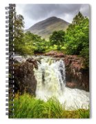Waterfall Under The Mountain Spiral Notebook
