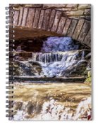 Waterfalls Through Stone Bridge Spiral Notebook