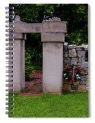 Waterloo Civil War Memorial Spiral Notebook