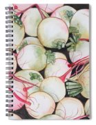 Watermelon Radishes And A Teeny Ear Of Corn Spiral Notebook