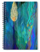 Watery Abstract Xviii - Women And Candles Spiral Notebook