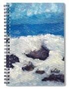 Wave Over Rocks Spiral Notebook