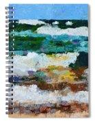 Waves Crash - Painting Version Spiral Notebook